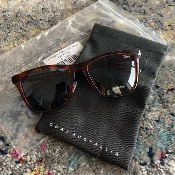 QUAY Reckless Tortoise Sunglasses NEW